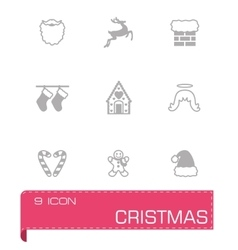 Cristmas icon set vector