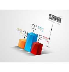 Infographic bar graph vector