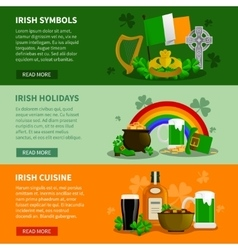Ireland horizontal banners vector
