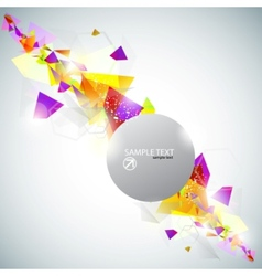 bright abstract triangles vector image