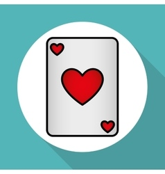 Casino cards design vector