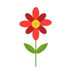 Flower isolated vector image