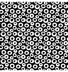 Hand drawn polka dot pattern vector
