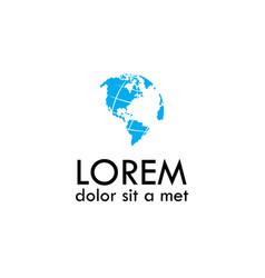 Abstract globe logo vector