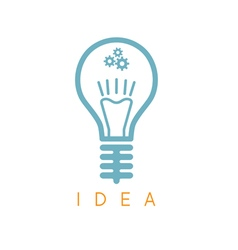abstract icon design template of lamp bulb vector image