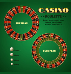 american and european casino roulette motion vector image vector image