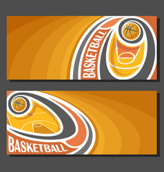 banners for basketball vector image vector image