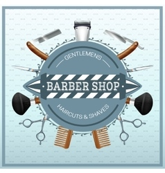 Barber Shop Realistic Concept vector image