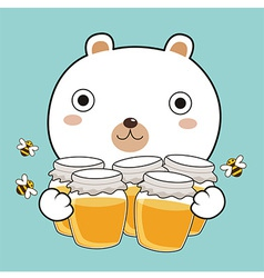 Bear hug honey vector