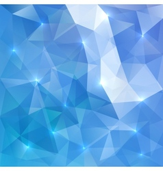 Blue abstract shining ice background vector