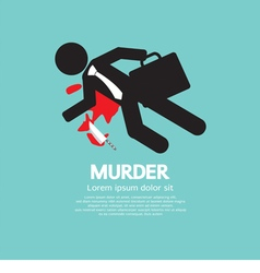 Businessman is dead by murder vector