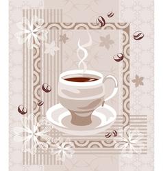 Coffee creamy composition vector image vector image