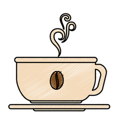 Coffee cup hot icon vector