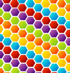 Colorful honey cell background vector