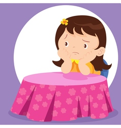 cute girl waiting vector image vector image