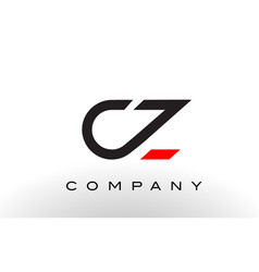 cz logo letter design vector image vector image