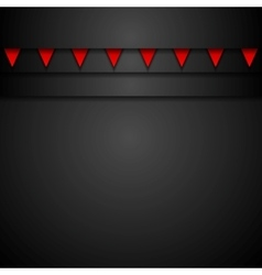 Dark abstract corporate background vector image vector image