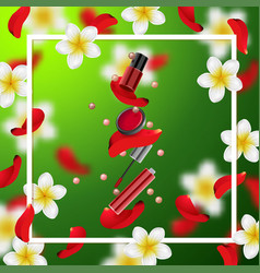 decorative cosmetics make up accessories vector image vector image