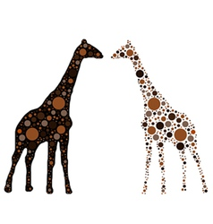 Dotted giraffe vector