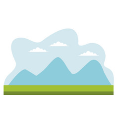 Drawing mountains cloud sky desin vector