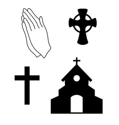 Faith icons vector
