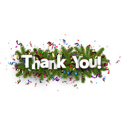 Festive thank you background vector