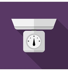 Flat icon for kitchen scales vector image