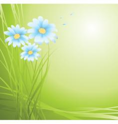 flowers green vector image