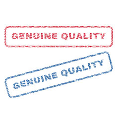 Genuine quality textile stamps vector