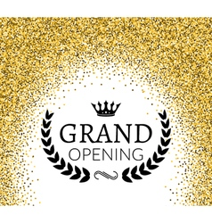 Grand Opening ceremony background Golden dust vector image