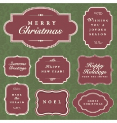 Holiday frame set vector