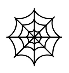 isolated spider web icon vector image