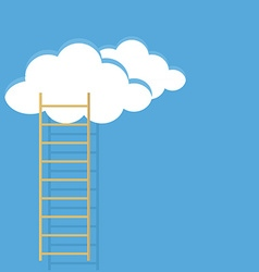 Ladder sky and clouds vector