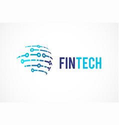 Logo concept for global digital finance industry vector