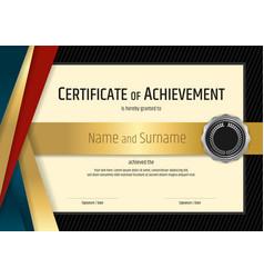 Luxury certificate template with elegant black vector