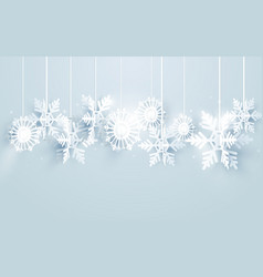 merry christmas and happy new year with snowflakes vector image vector image