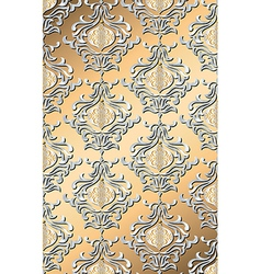 metallic holiday damask vector image vector image