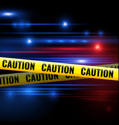 Police lights and caution tapes vector