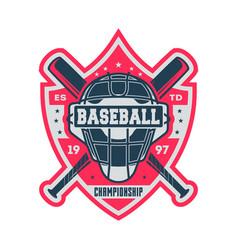 professional baseball championship vintage label vector image vector image
