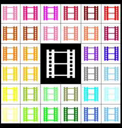 reel of film sign felt-pen 33 colorful vector image