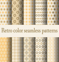 retro color seamless pattern vector image vector image