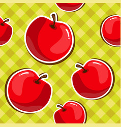 seamless texture of red apples vector image vector image