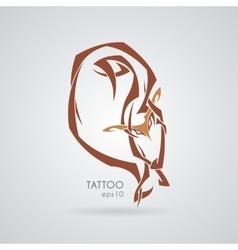 Sleeping fox tattoo tribal vector
