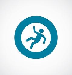 Slippery floor icon bold blue circle border vector