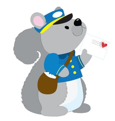 Squirrel Postman vector image