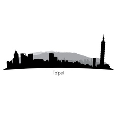 Taipei Skyline vector image vector image