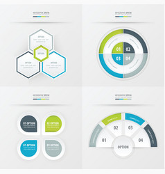 template design 4 item green blue gray color vector image vector image