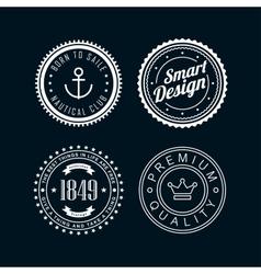 Vintage badges white 3 vector
