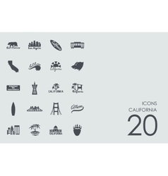 Set of california icons vector