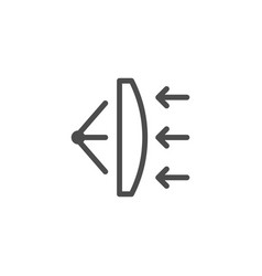 Lens scheme line icon vector